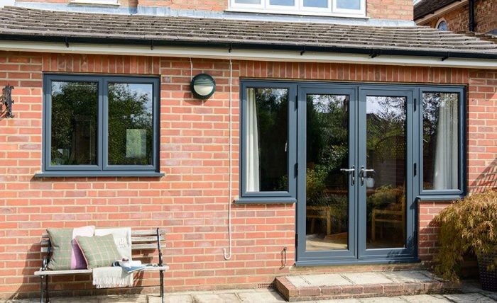 UPVC French Door and Window Anthracite